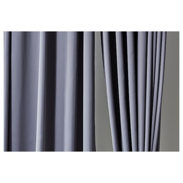 HILLEBORG rideaux occultant, 2 pièces gris 300 cm 145 cm 2.31 kg 4.35 m² 2 pièces