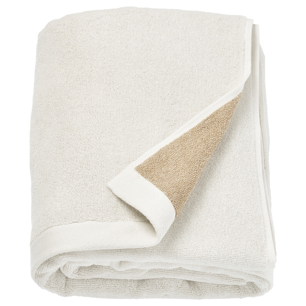 HIMLEÅN Drap de bain, beige/mélange, 100x150 cm