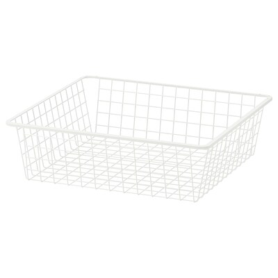 HJÄLPA Corbeille en fil, blanc, 60x55 cm