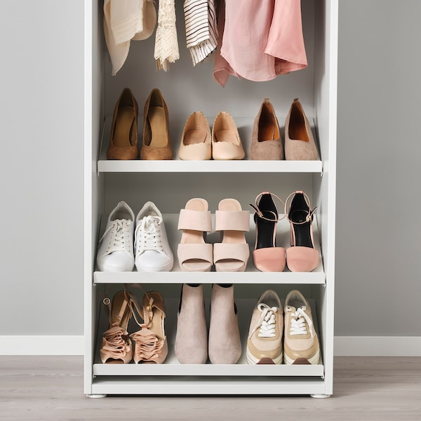 HJÄLPA Étagère à chaussures, blanc, 80x40 cm