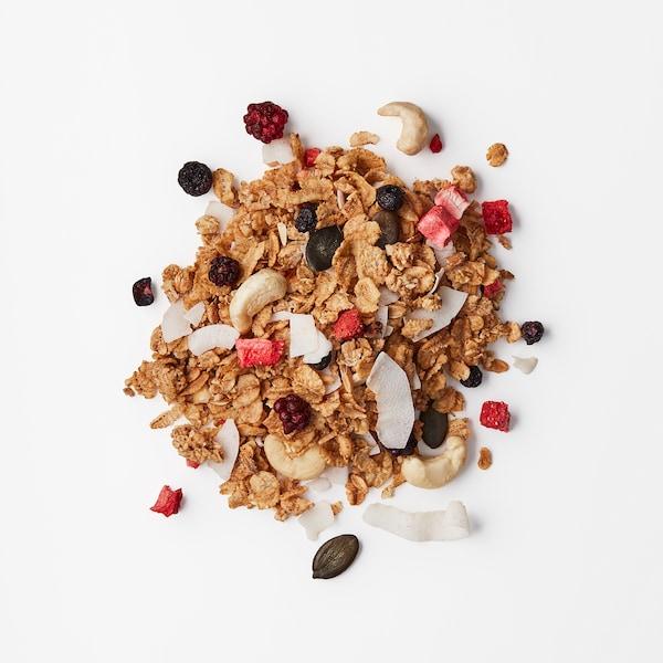 HJÄLTEROLL Granola, avec des fruits à coque et baies séchées, 400 g
