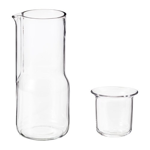 hj rtelig carafe avec verre ikea. Black Bedroom Furniture Sets. Home Design Ideas