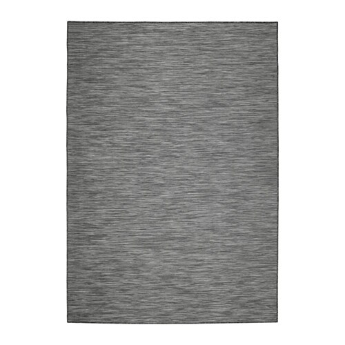 hodde tapis tiss plat int ext rieur gris noir 133x195 cm ikea. Black Bedroom Furniture Sets. Home Design Ideas