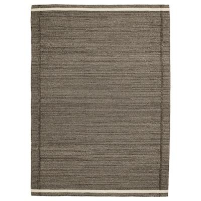 HÖJET tapis tissé à plat fait main brun 240 cm 170 cm 7 mm 4.08 m² 2000 g/m²