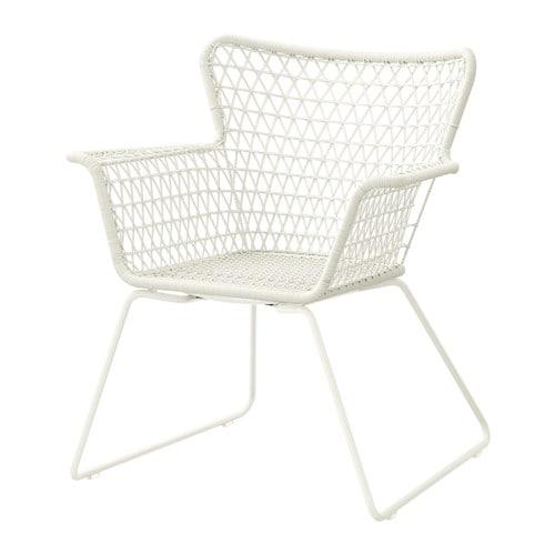 H gsten chaise avec accoudoirs ext rieur ikea - Ikea chaise plastique ...
