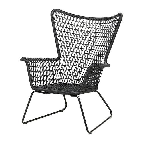 H gsten fauteuil ext rieur noir ikea - Fauteuil ikea exterieur ...