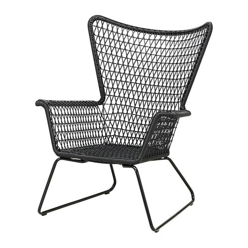 h gsten fauteuil ext rieur noir ikea. Black Bedroom Furniture Sets. Home Design Ideas