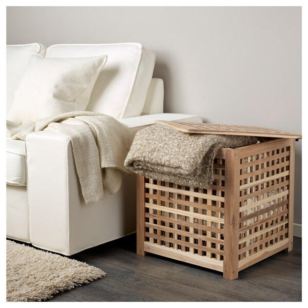 HOL Table d'appoint, acacia, 50x50 cm