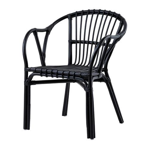 Holmsel fauteuil noir ikea - Ikea fauteuil plastique ...