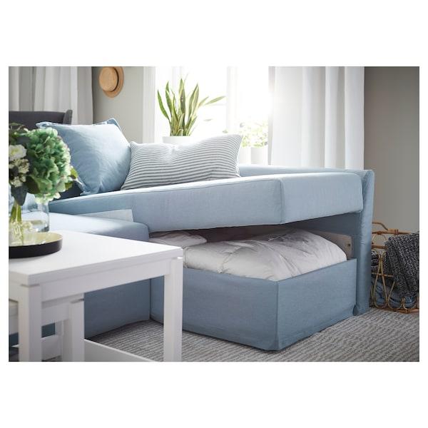 HOLMSUND Canapé convertible d'angle - Orrsta bleu clair - IKEA