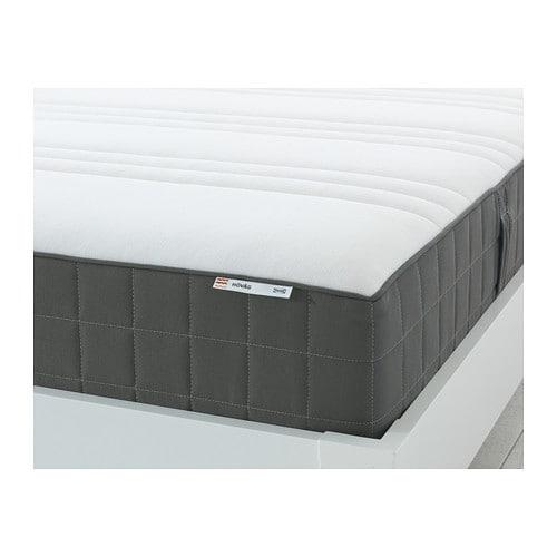 h v g matelas ressorts ensach s 160x200 cm mi ferme gris fonc ikea. Black Bedroom Furniture Sets. Home Design Ideas