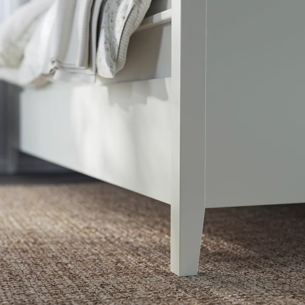 IDANÄS Cadre lit avec rangement, blanc/Luröy, 160x200 cm