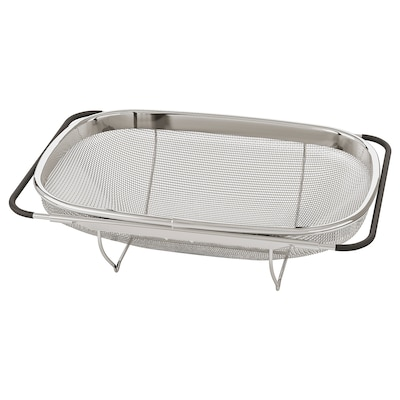 IDEALISK Passoire, acier inoxydable/noir, 34x23 cm