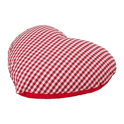 IDGRAN Coussin, rouge Longueur: 45 cm Largeur: 45 cm Poids garnissage: 350 g Poids total: 420 g