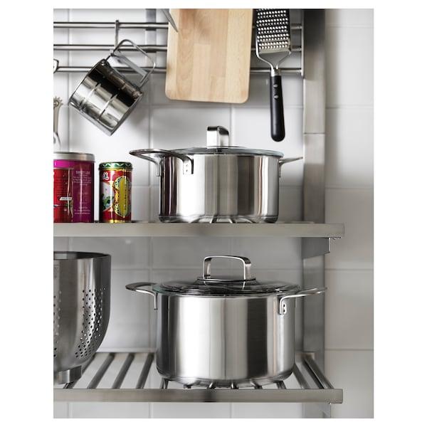 IKEA 365+ Faitout avec couvercle, acier inoxydable/verre, 3 l