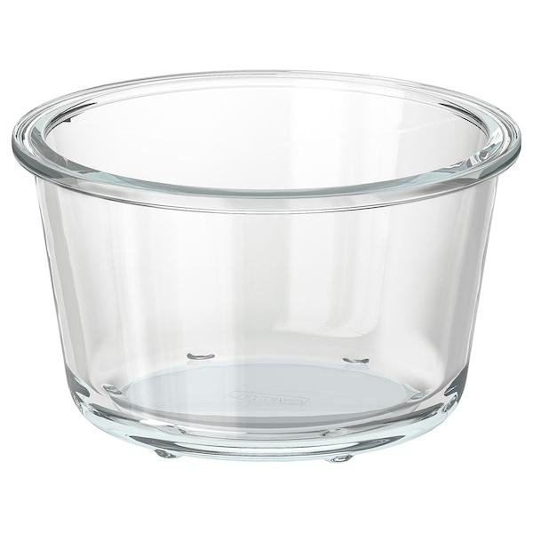 IKEA 365+ Récipient alimentaire, rond/verre, 600 ml