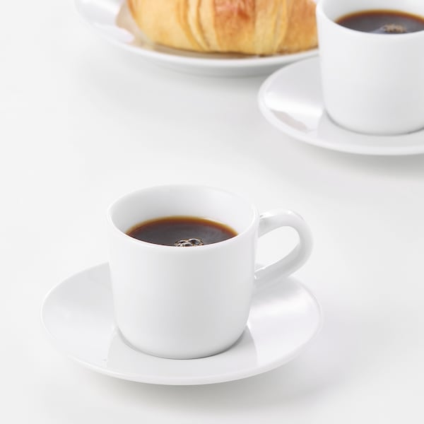 IKEA 365+ Tasse à expresso et soucoupe, blanc, 6 cl