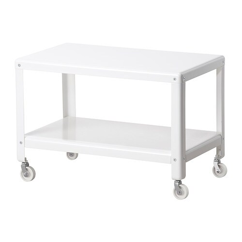 Ikea ps 2012 table basse blanc ikea for Table basse sur roulettes ikea