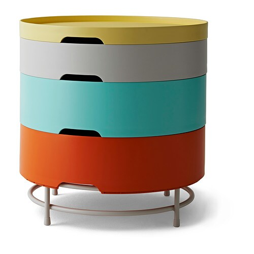 ikea ps 2014 table de rangement multicolore ikea. Black Bedroom Furniture Sets. Home Design Ideas