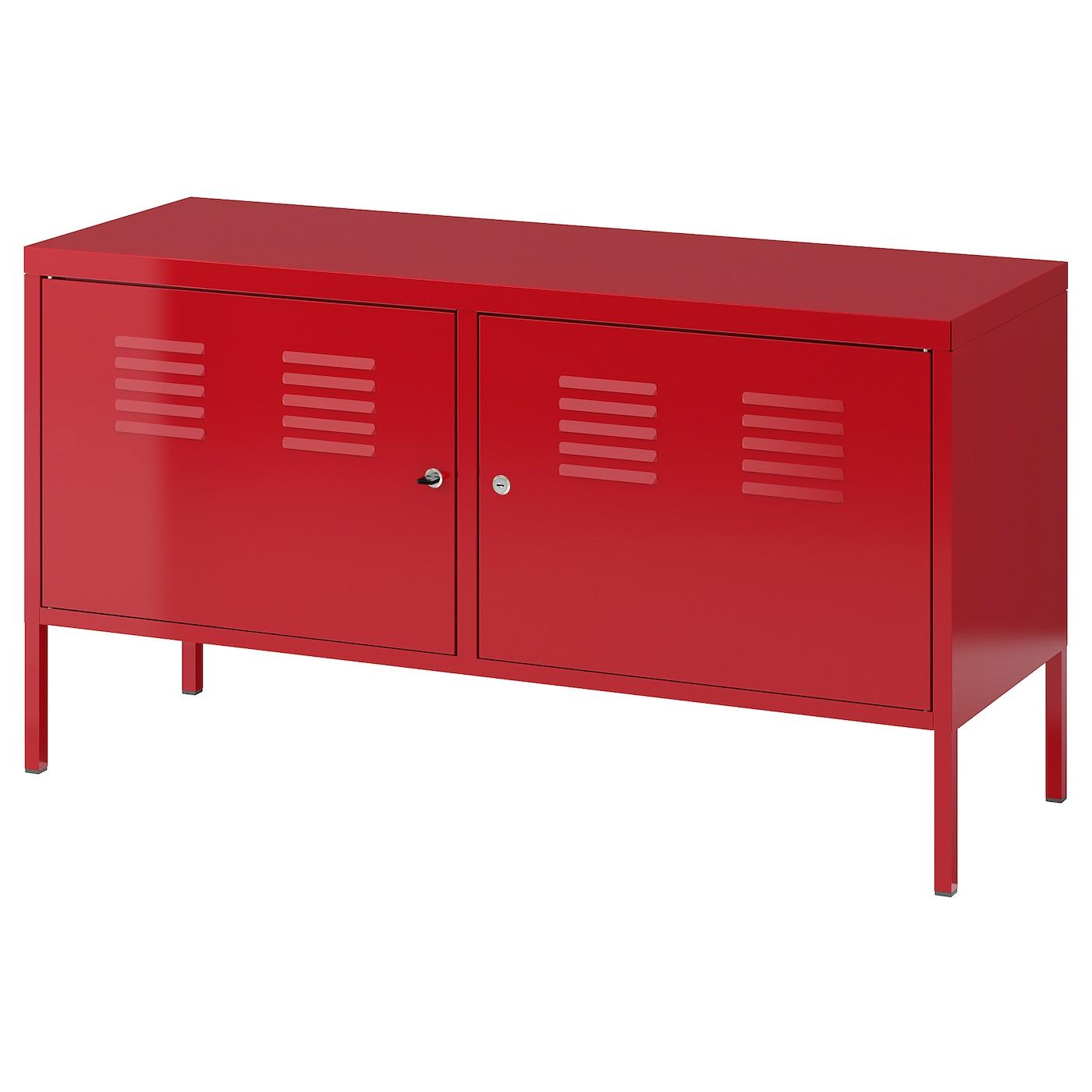 Meuble Laqué Rouge Ikea ikea ps armoire métallique - rouge 119x63 cm