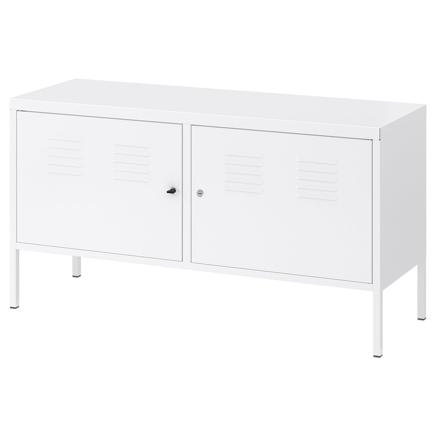 Ikea Meuble Blanc Laqué ikea ps armoire métallique - blanc 119x63 cm