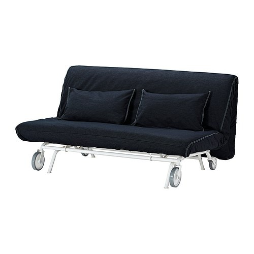 Ikea ps h vet convertible 2 places vansta bleu fonc ikea for Divano futon ikea