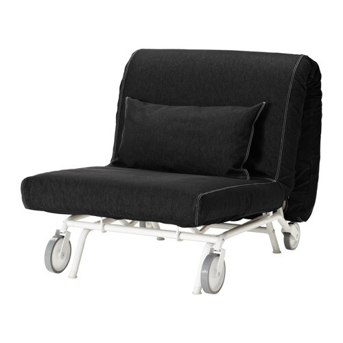 ikea ps housse chauffeuse convertible vansta noir ikea. Black Bedroom Furniture Sets. Home Design Ideas