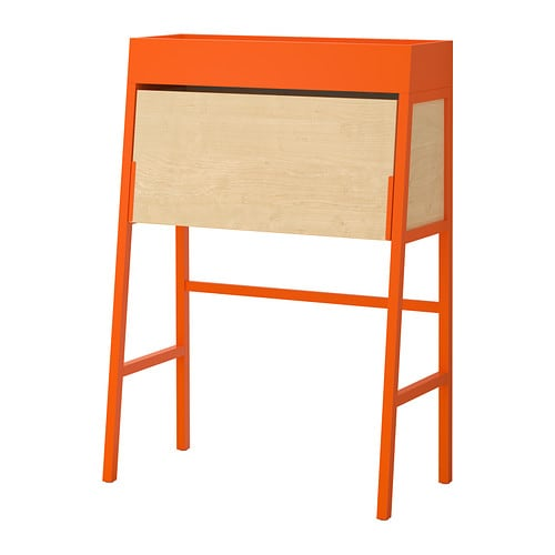 ikea ps 2014 secr taire orange plaqu bouleau ikea. Black Bedroom Furniture Sets. Home Design Ideas