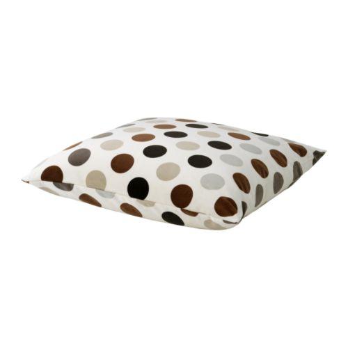 IKEA STOCKHOLM CIRKEL Coussin, blanc, brun Longueur: 55 cm Largeur: 55 cm Poids garnissage: 900 g Poids total: 968 g