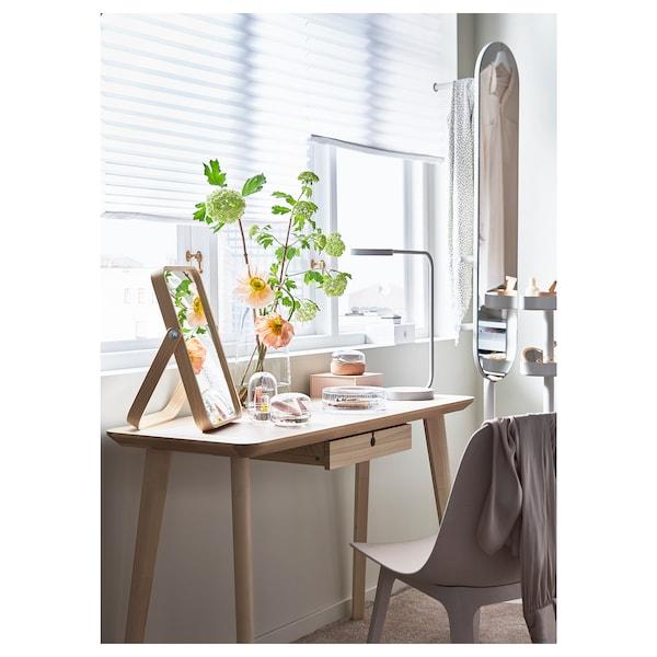 IKORNNES Miroir de table, frêne, 27x40 cm
