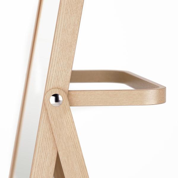 IKORNNES Miroir sur pied, frêne, 52x167 cm