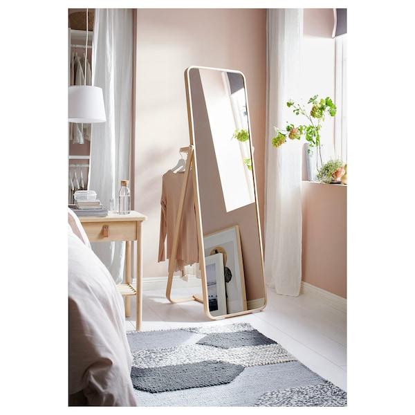 IKORNNES miroir sur pied frêne 52 cm 167 cm 52 cm