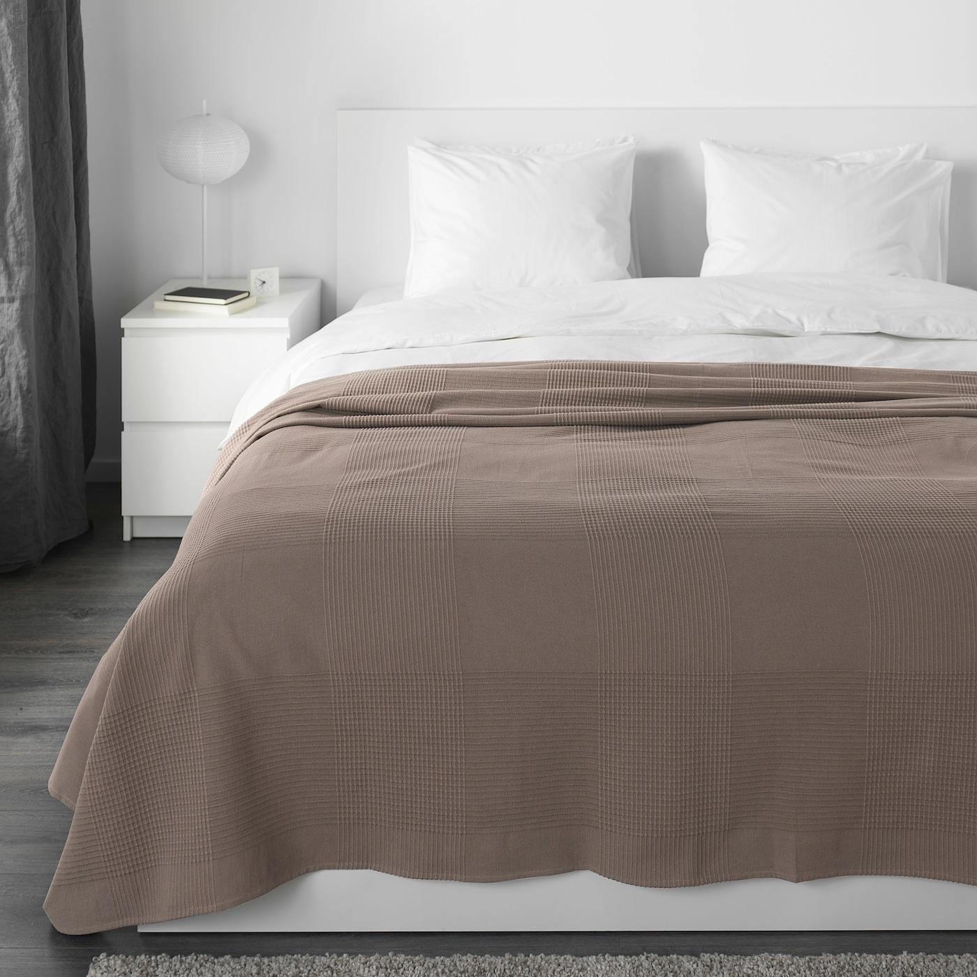 INDIRA Couvre-lit - brun clair - IKEA