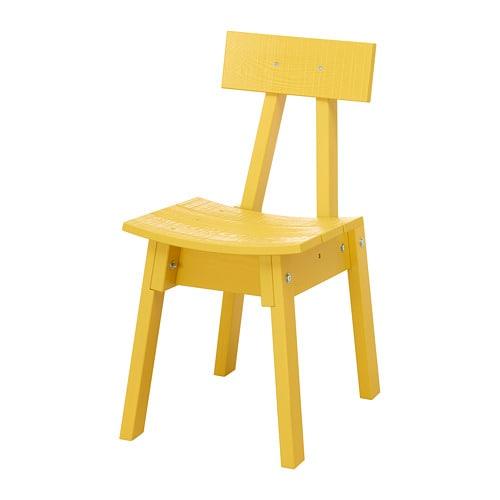 industriell chaise jaune ikea