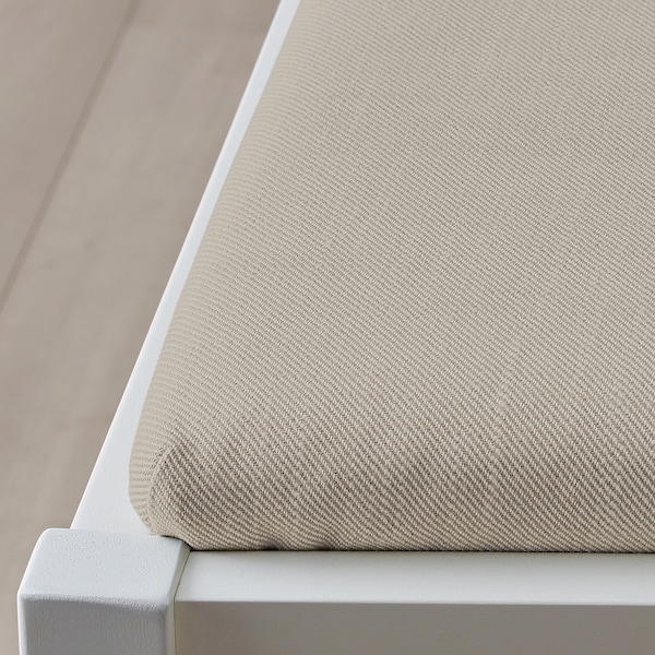 INGATORP Chaise à accoudoirs, blanc/Nordvalla beige
