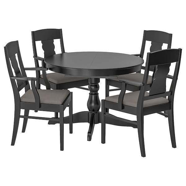 Table Et 4 Chaises Ingatorp Ingatorp Noir