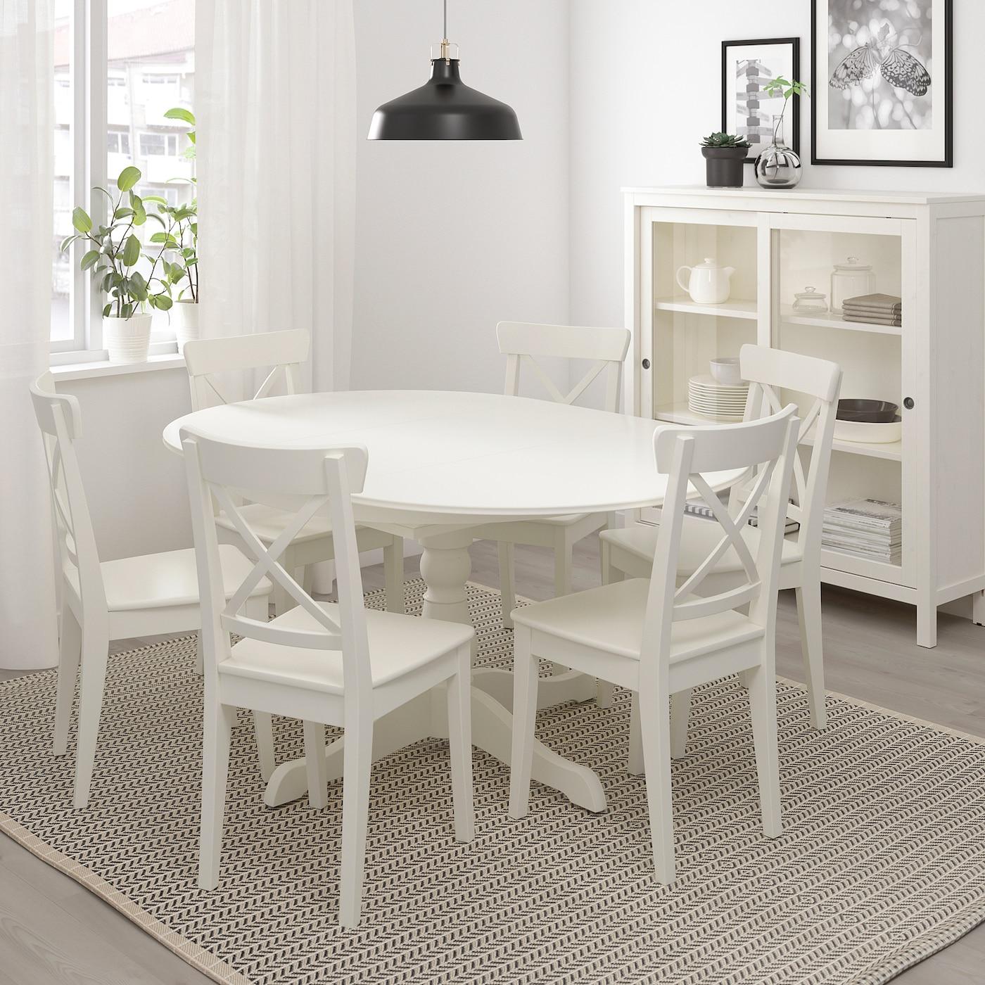 Ingatorp Table Extensible Blanc 110 155 Cm Ikea