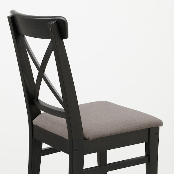 INGOLF Chaise, brun noir/Nolhaga gris-beige