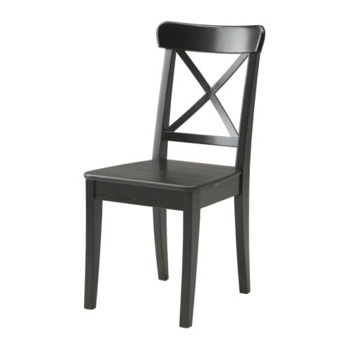 Chaise En Bois Ikea : IKEA Black Dining Chairs