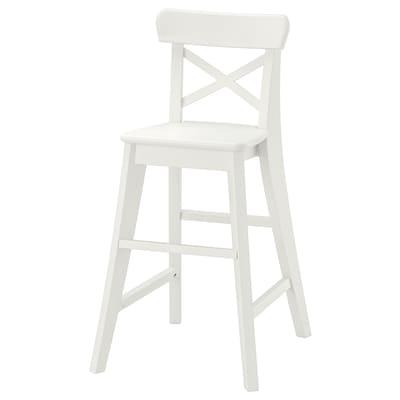 INGOLF chaise junior blanc 41 cm 45 cm 77 cm 30 cm 25 cm 52 cm