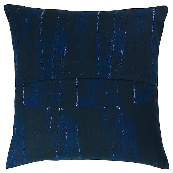 INNEHÅLLSRIK housse de coussin fait main bleu/blanc 50 cm 50 cm