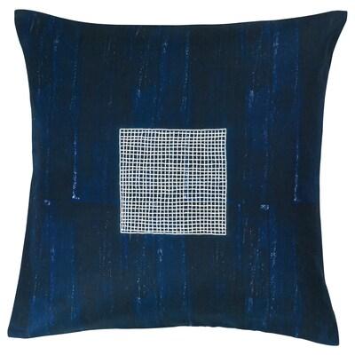 INNEHÅLLSRIK housse de coussin fait main bleu 50 cm 50 cm