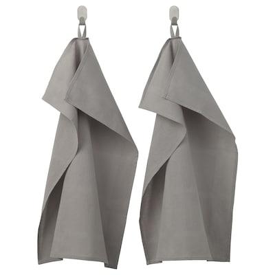 IRIS torchon gris 70 cm 50 cm 2 pièces