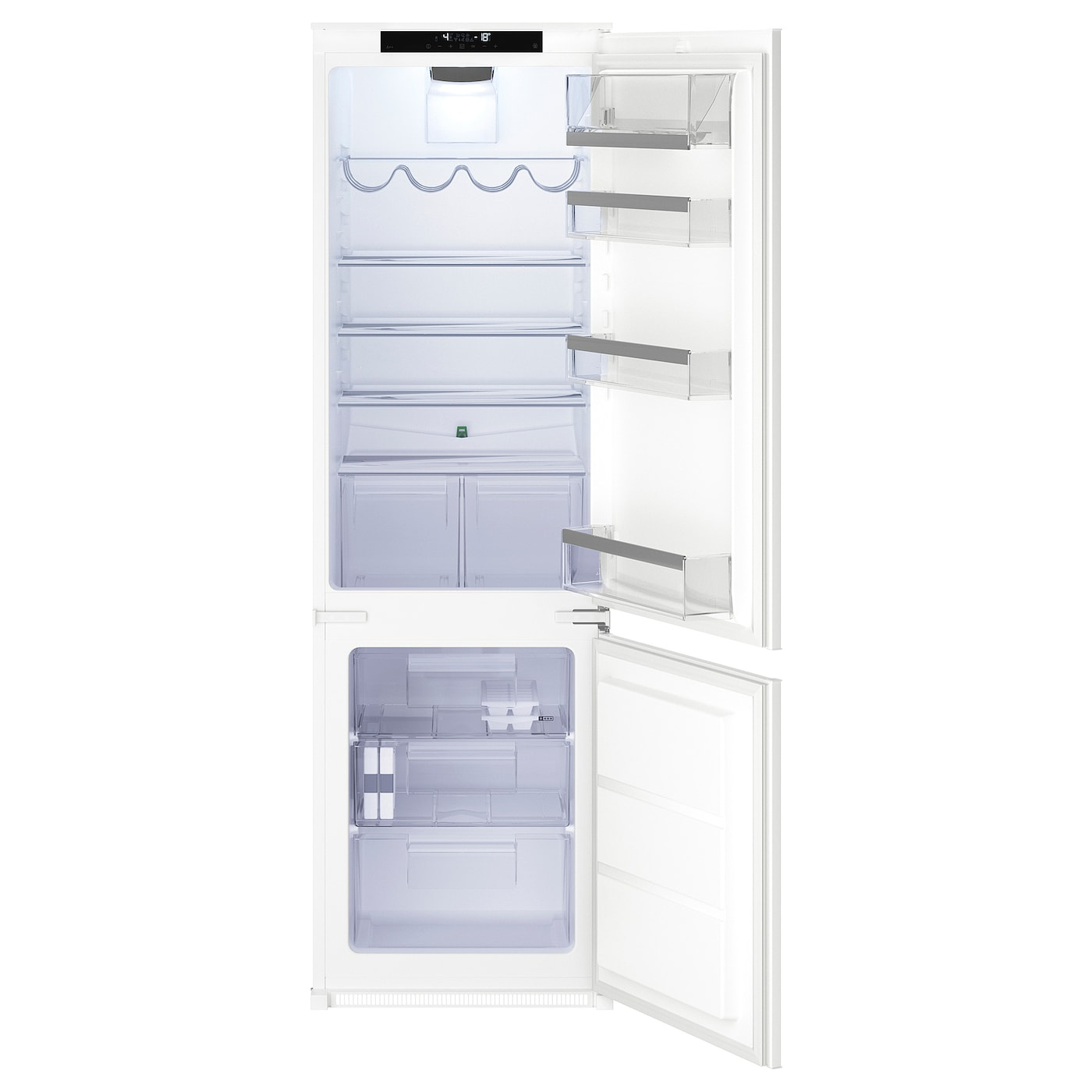 Dimension Frigo Encastrable Ikea isande réfrigérateur/congélateur encas a++ - no frost blanc 192/61 l