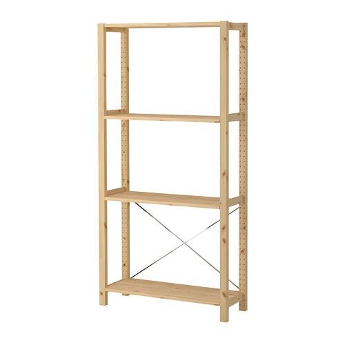ivar 1 section tablettes ikea. Black Bedroom Furniture Sets. Home Design Ideas