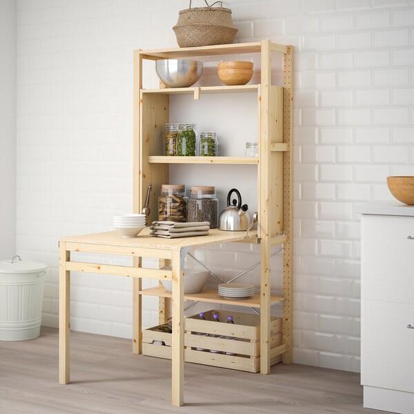 Ivar 1 Section Rgt Av Table Pliante Ikea