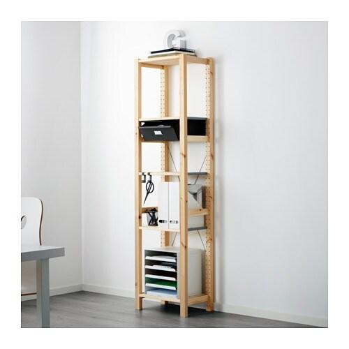 ivar 1 section tablettes tiroirs ikea. Black Bedroom Furniture Sets. Home Design Ideas