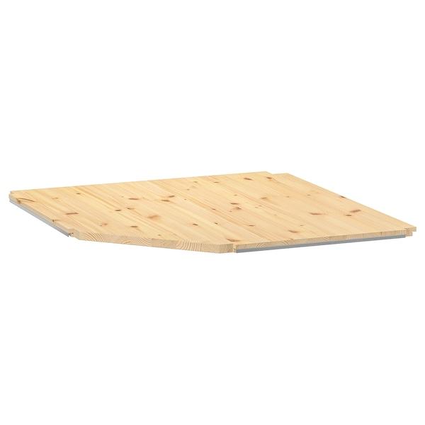 IVAR Tablette d'angle, pin, 76x76x50 cm