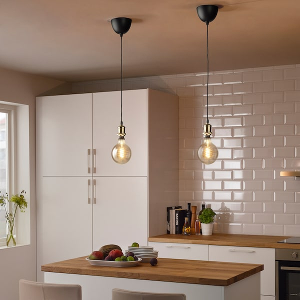 JÄLLBY Monture électrique, textile laitonné, 1.4 m
