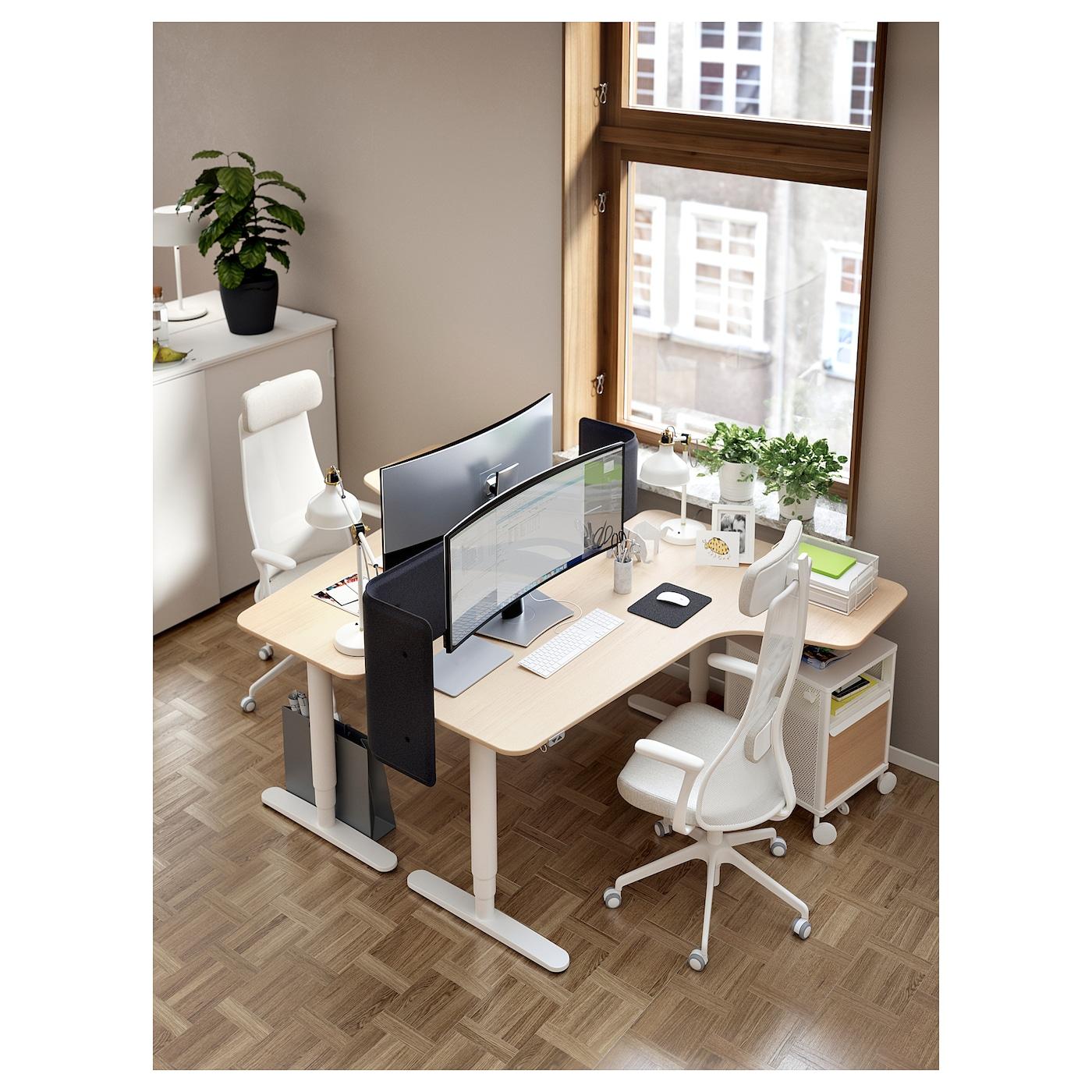 JÄRVFJÄLLET Chaise de bureau av accoudoirs Gunnared beige, blanc